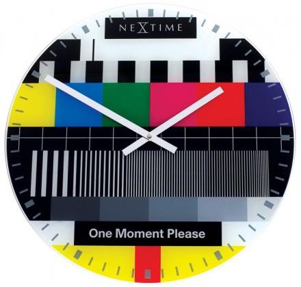 Small testpage - hodiny, nástenné, guľaté (sklo, farebné)