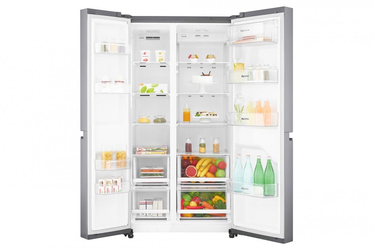 Smart chladničky s mrazničkou Americká chladnička LG GSB760PZXZ