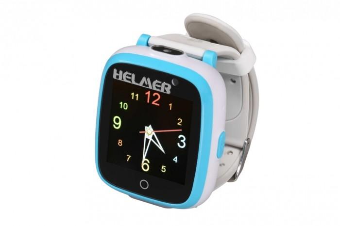 Smart detské hodinky Helmer KW 802, modro-biela