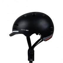 Smart helma SafeTec SK8, L, LED smerovka, bluetooth, čierna