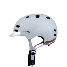 Smart helma SafeTec SK8, M, LED smerovka, bluetooth, biela
