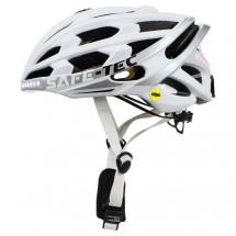 Smart helma SafeTec TYR 3, M, LED smerovka, bluetooth, biela