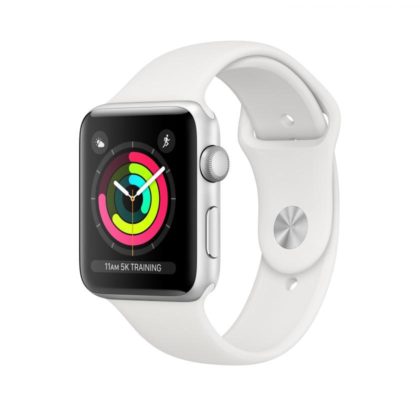 Smart hodinky Apple Watch Series 3 GPS, 42mm, strieborná, športový remienok