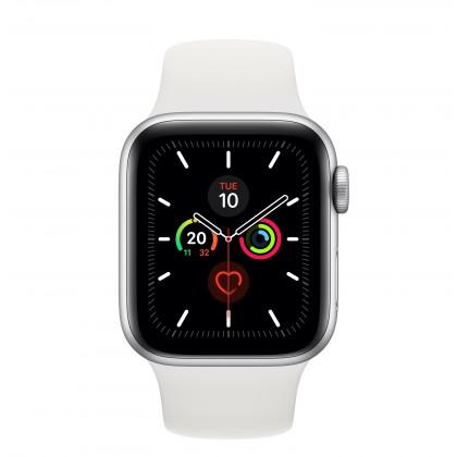 Smart hodinky Apple Watch Series 5 GPS, 40mm, strieborná, športový remienok