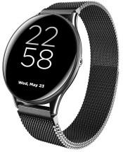 Smart hodinky Canyon Lemongrass, kovový remienok, čierna