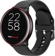 """Smart hodinky Canyon Marzipan 1,22"""", 2 remienky, čierna/červená"""