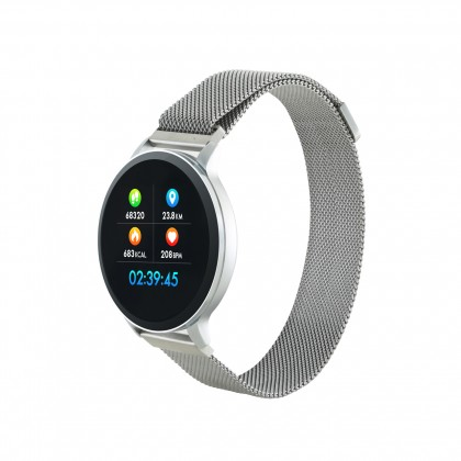 Smart hodinky Chytré hodinky Canyon SW71, 2 náramky, strieborná
