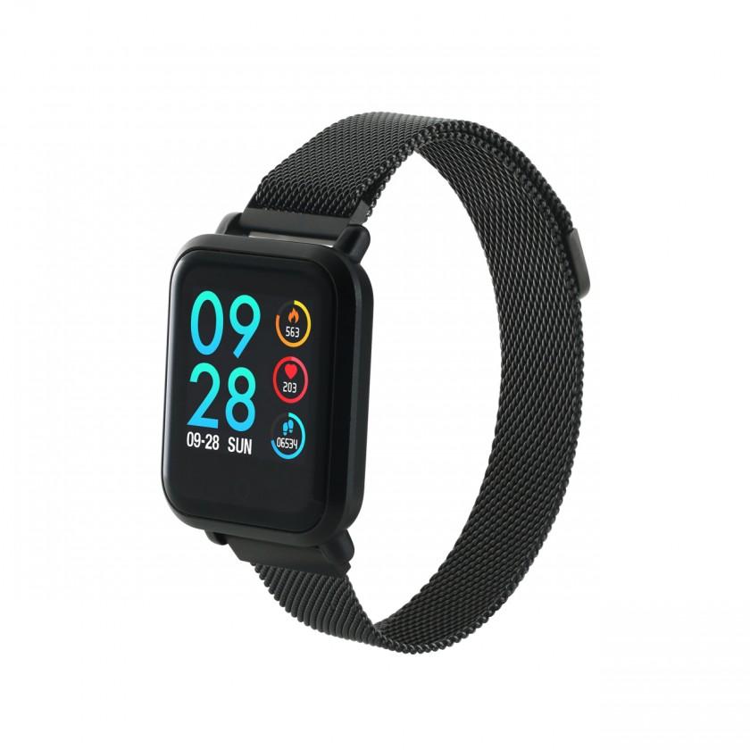 Smart hodinky Chytré hodinky Canyon SW72, 2 náramky, čierna