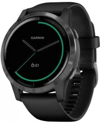 Smart hodinky Chytré hodinky Garmin Vívoactive 4, čierna/sivá