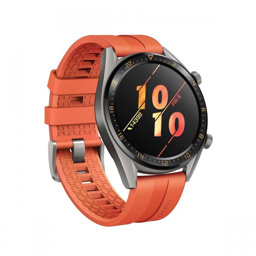 Smart hodinky Chytré hodinky Huawei Watch GT Active, oranžová