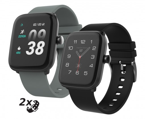 Smart hodinky Chytré hodinky iGET Fit F25, 2x remienok, čierna