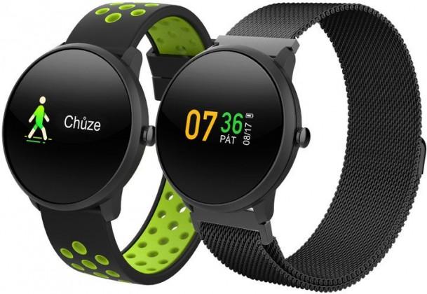 Smart hodinky Chytré hodinky iGET Fit F4, 2 remienky, čierna