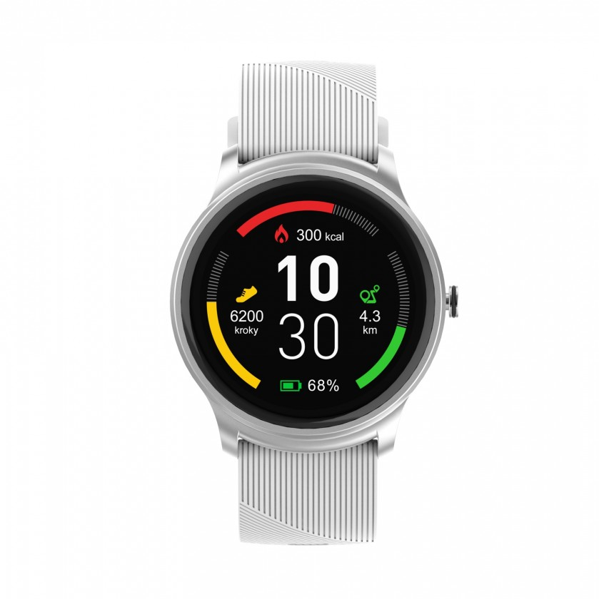 Smart hodinky Chytré hodinky iGET Fit F6, 2 remienky, strieborná