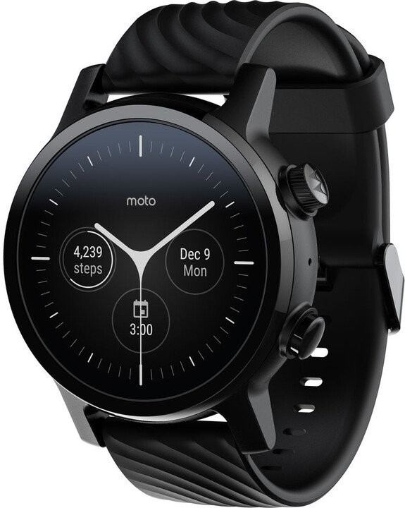 Smart hodinky Chytré hodinky Motorola 360 3. generácie, čierna POUŽITÉ, NEOPOTR