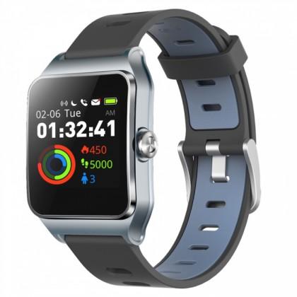 Smart hodinky Chytré hodinky Umax U-Band P1 PRO s meraním tepu, sivá/strieborn