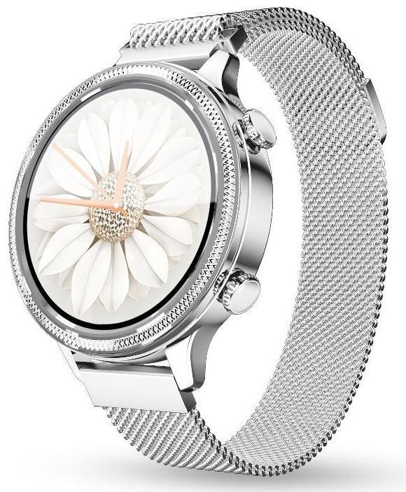 Smart hodinky Dámske smart hodinky Aligator Watch Lady, 2 remienky,strieborná