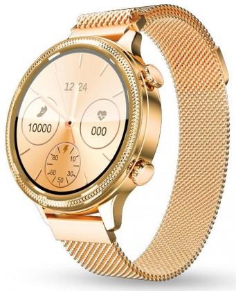 Smart hodinky Dámske smart hodinky Aligator Watch Lady, 2 remienky, zlatá