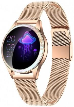 Smart hodinky Dámske smart hodinky Armodd Candywatch Crystal, zlatá
