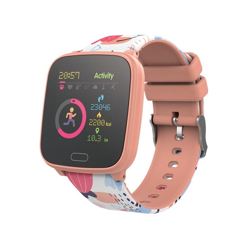 Smart hodinky Detské chytré hodinky Forever IGO, IP68, broskyňová