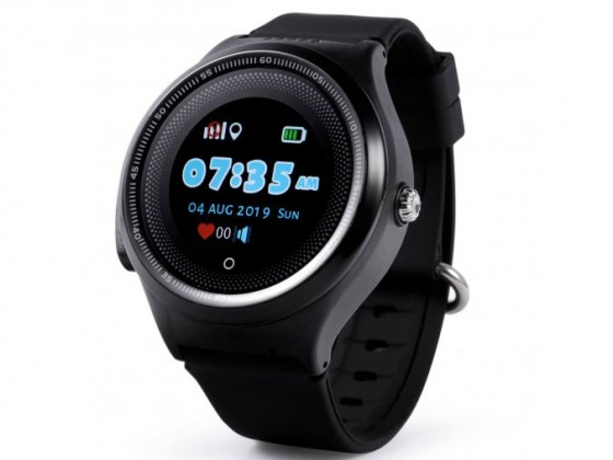 Smart hodinky Detské smart hodinky Smartomat Kidwatch 3 Circle, čierna