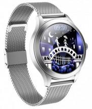 Smart hodinky Deveroux KW10 Pre, milánsky remienok, strieborná
