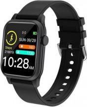 Smart hodinky Deveroux P18, silikónový remienok, čierna
