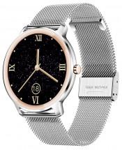 Smart hodinky Deveroux R18, milánsky remienok, strieborná