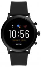 Smart hodinky Fossil Carlyle, čierna/čierny silikónový remienok P