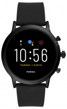 Smart hodinky Fossil Carlyle, čierna/čierny silikónový remienok