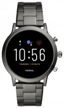 Smart hodinky Fossil Carlyle, sivá/oceľový remienok