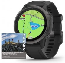 Smart hodinky Garmin Fenix 6S Pro Sapphire, čierna/sivá