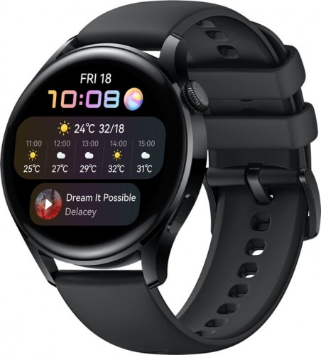 Smart hodinky Huawei Watch 3, čierne