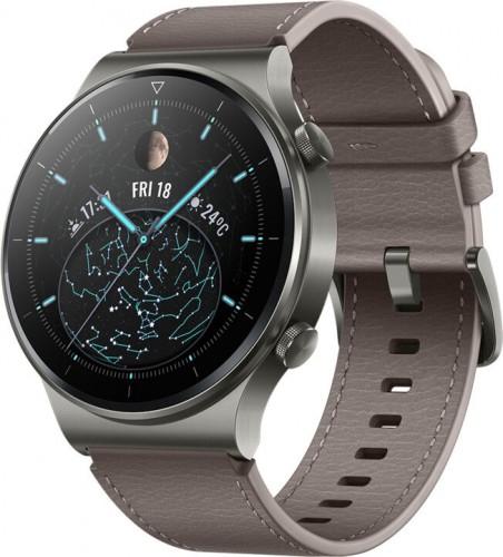 SMART hodinky Huawei Watch GT2 Pro, kožený remienok, šedá