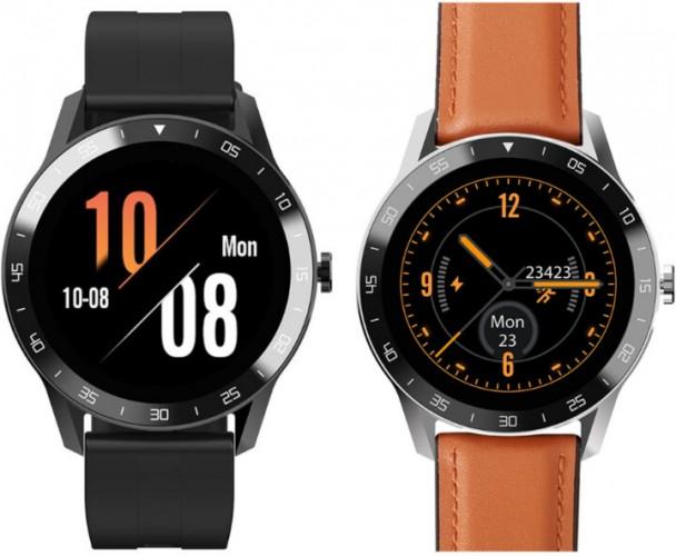 Smart hodinky iget Blackview GX1, hnedé