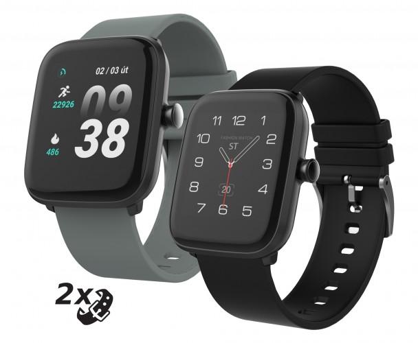 Smart hodinky iGET Fit F25, 2x remienok, čierne