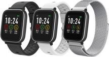 Smart hodinky iGET Fit F3, 3 remienky, strieborné