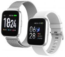 Smart hodinky iGET Fit F30, 2x remienok, strieborná POUŽITÉ, NEOP