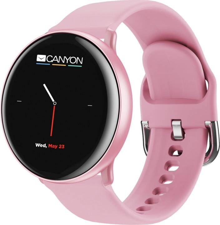 """Smart hodinky Smart hodinky Canyon Marzipan 1,22"""", 2 remienky, ružová"""