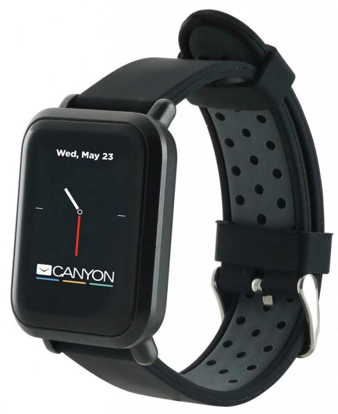 Smart hodinky Smart hodinky Canyon Sanchal, 2x remienok, čierna