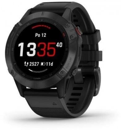 Smart hodinky Smart hodinky Garmin Fenix 6 Pro Glass, čierna
