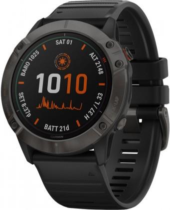 Smart hodinky Smart hodinky Garmin Fenix 6X Pro Solar, čierna/titán