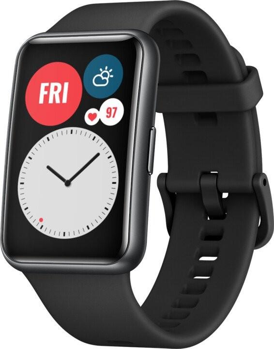 Smart hodinky SMART hodinky Huawei Watch Fit, čierna