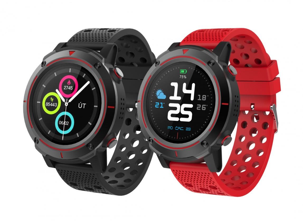 Smart hodinky Smart hodinky iGET Active A8, 2 remienky, čierna POUŽITÉ, NEOPOT