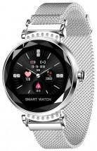 Smart hodinky Smartomat Sparkband, strieborná