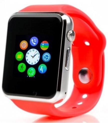 Smart hodinky Smartomat Squarz 1, červená