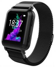 Smart hodinky Smartomat Squarz X GPS, čierne