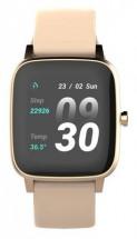 Smart hodinky Vivax Life Fit, silikónový remienok, zlatá