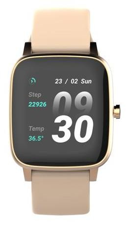 Smart hodinky vivax Smart watch Lifefit, zlatá