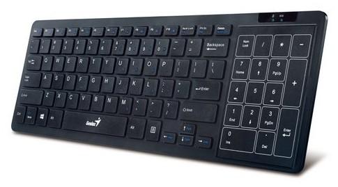 SMART klávesnice Genius Slimstar T8020 Multi-touchPad USB CZ+SK, čierna