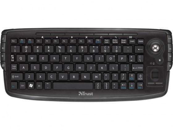 SMART klávesnice Trust Adura Wireless Multimedia Keyboard USB CZ+SK, čierna
